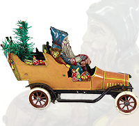 Fischer Father Christmas Car