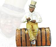 Man on Cotton Bale
