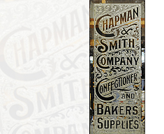 CONFECTIONER & BAKERS SUPPLIES REVERSE GLASS SIGN