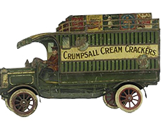 CRUMPSALL CREAM CRACKERS TIN ADVERTISING SIGN