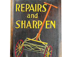 LAWN MOWER REPAIR SIGN