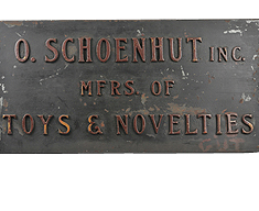 ORIGINAL SCHOENHUT COMPANY SIGN