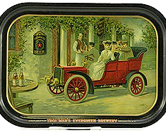 TROMMERS EVERGREEN BREWERY BEER TRAY