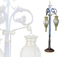 Marklin Triple Globe Lamp